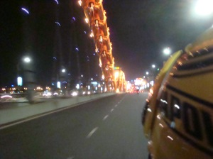 A motorcycle ride on Dragon Bridge. (Cầu Rồng)