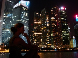 Contemplating the city at night